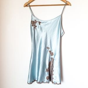 Victorias Secret | Blue Satin Lace Camisole